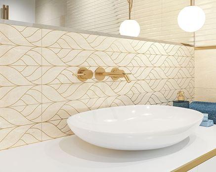 Aranżacja przestronnej łazienki w kolekcji Paradyż Anello