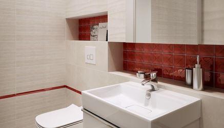 Ściana z prostokątną mozaiką Creamy Touch