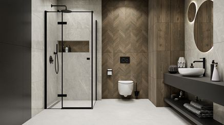 Jodełkowa struktura w nowoczesnej łazience Paradyż Afternoon