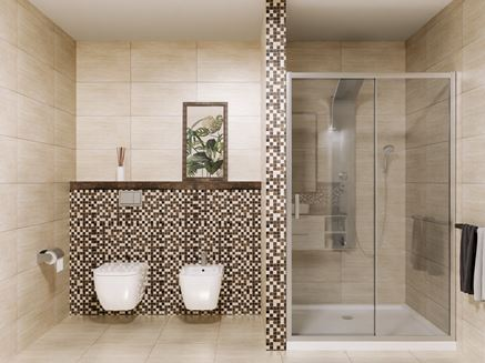 Tubądzin Fiorino - łazienka z prysznicem