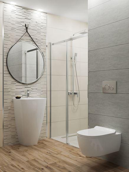 Łazienka w szarościach i bieli Azario Mareda