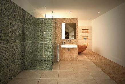 Łazienka w mozaice