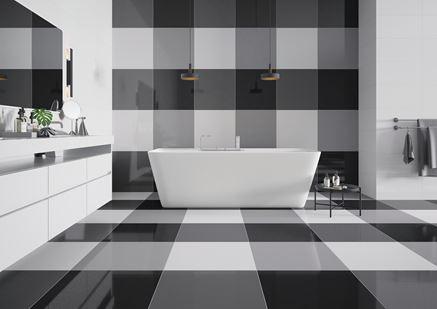 Skala szarości w łazience - Cerrad Cambia