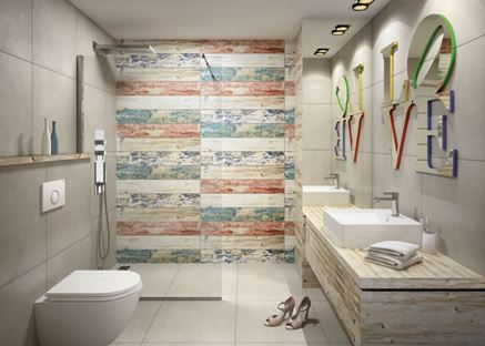 Nowoczesna łazienka z kabiną walk-in