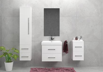 Nowoczesność w białym wydaniu - meble łazienkowe Defra Alta