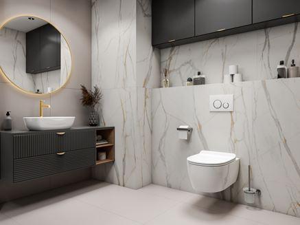 Marmurowa łazienka Tubądzin Marmo D'oro