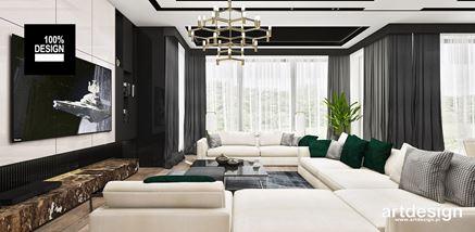 Strefa wypoczynkowa rezydencji w stylu glamour