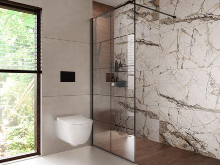 Aranżacja nowoczesnej strefy prysznicowej Azario Gristone