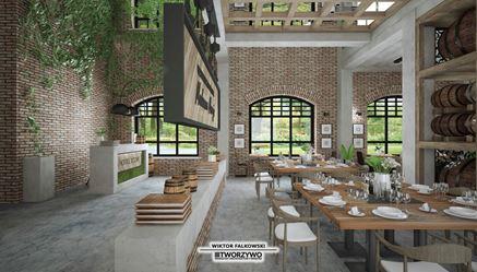 Restauracja w pofabrycznej przestrzeni