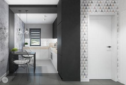 Nowoczesna kuchnia od Projekt M - beton i biel