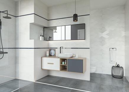 Paradyż Wonder - nowoczesna łazienka z połyskiem