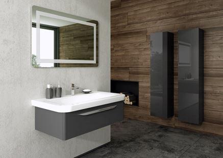 Antracytowa szafka z umywalką New Trendy Sfero