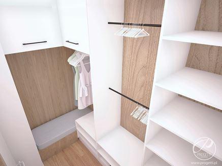 Garderoba - wnęka z siedziskiem i wieszakami