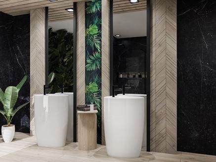Ceramika wolnostojąca Bocchi Etna w nowoczesnej łazience