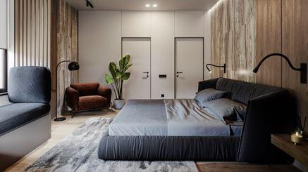 Sypialnia w projekcie RB Architects