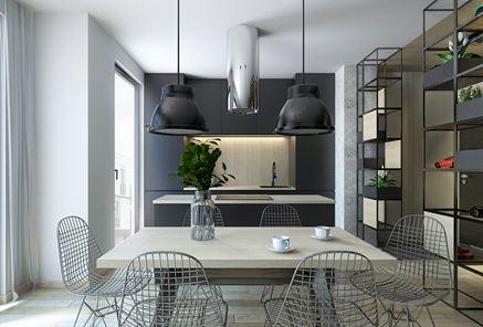 Jadalnia otwarta na kuchnię