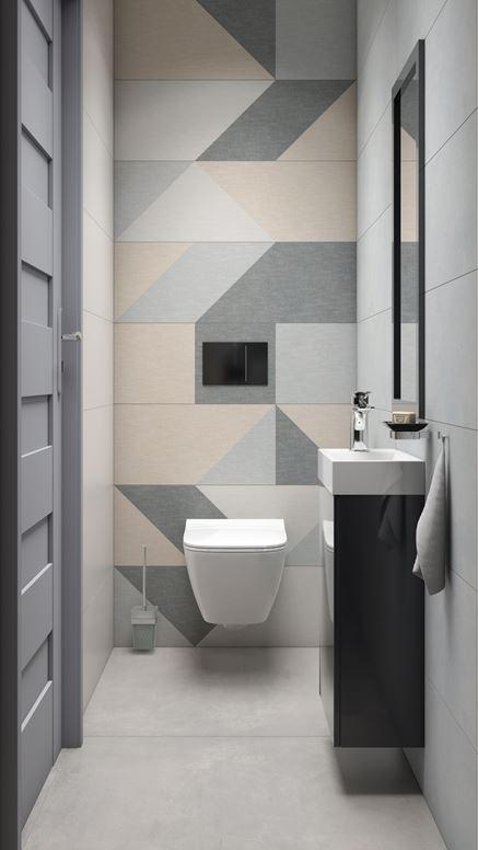 Pomysł na toaletę z płytką Paradyż Linum
