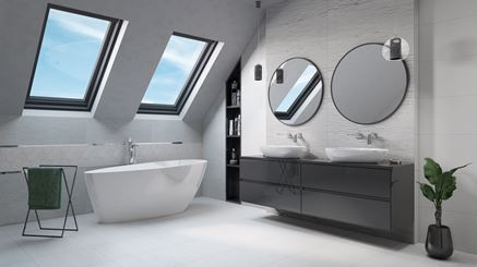 Aranżacja białej łazienki na poddaszu