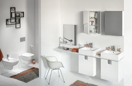 Aranżacja białej łazienki Koło Twins