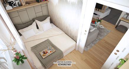 Maleńa sypialnia w trzypokojowym mieszkaniu