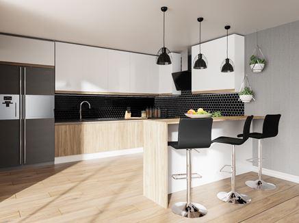 Aranżacja nowoczesnej, otwartej kuchni