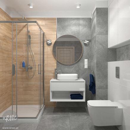 Projekt łazienki z wykorzystaniem płytki drewnopodobnej