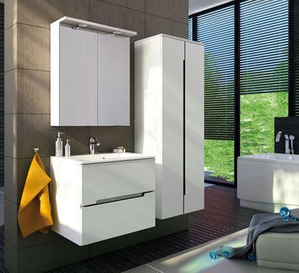 Biel i nowoczesne formy mebli łazienkowych