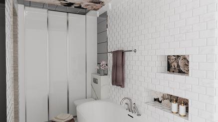 Łazienka z kwietnym motywem