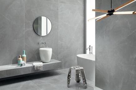 Szara łazienka Tubądzin Grey Pulpis