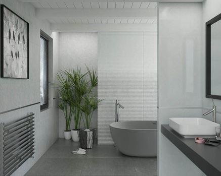 Biała łazienka - Paradyż Norway Sky