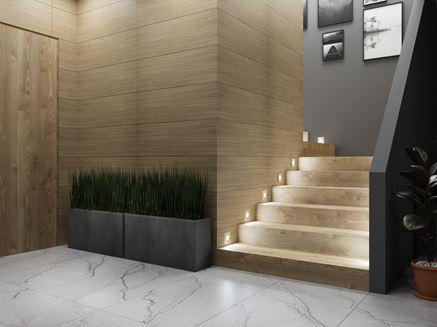 Aranżacja nowoczesnego przedpokoju ze schodami