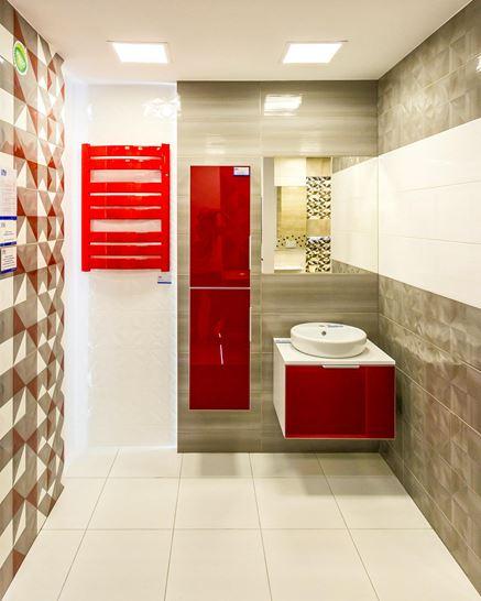 Powiew czerwieni w łazience