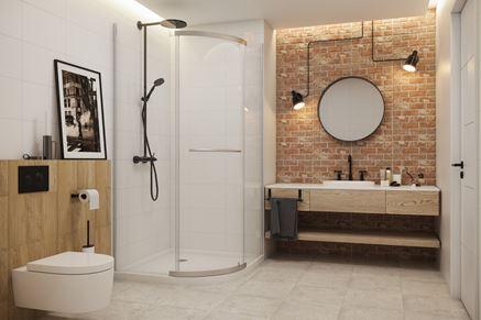 Łazienka w stylu industrialnym w gamie produktów Loft