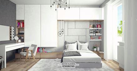Praktycznie zorganizowana sypialnia