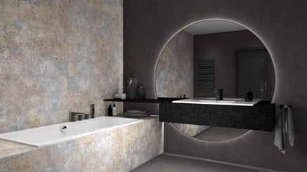 Wnętrze dużej nowoczesnej łazienki