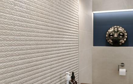 Ściana strukturalna w łazience Cersanit Manzila