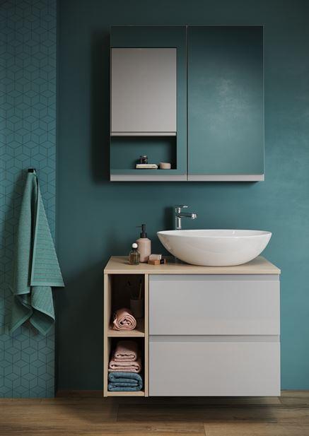 Zielona łazienka z mozaiką