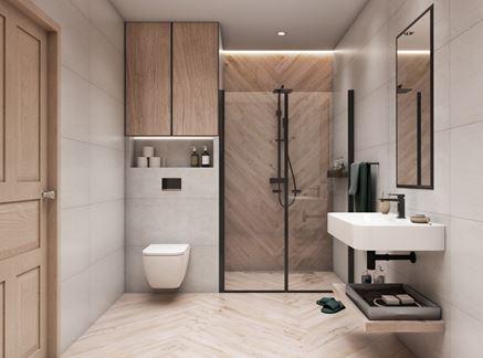 Azario Modun i łazienka w drewnie