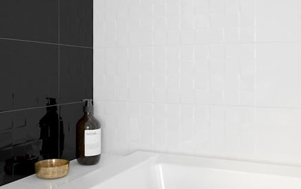 Biała ściana strukturalna Cersanit Simple Art