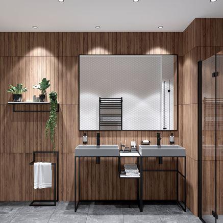 Łazienka w drewnie z meblami Deante Correo