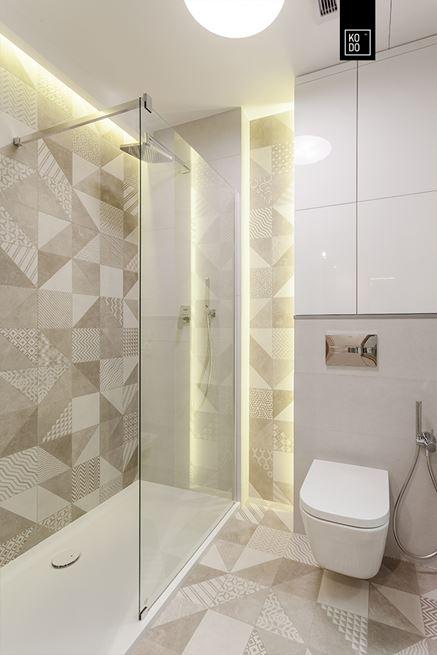 Łazienka w łagodnych odcieniach
