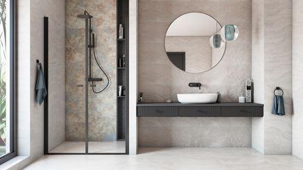 Nowoczesna łazienka w beżach Azario Pravia