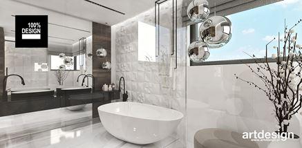 Łazienka w białym połysku