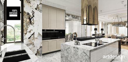 Biały marmur w kuchni