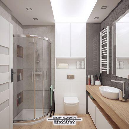 Aranżacja małej łazienki - Tworzywo
