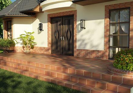 Frontowa elewacja domu w stylu klasycznym