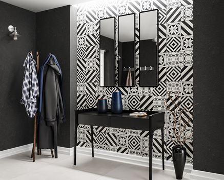 Marokańskie wzory w nowoczesnym przedpokoju