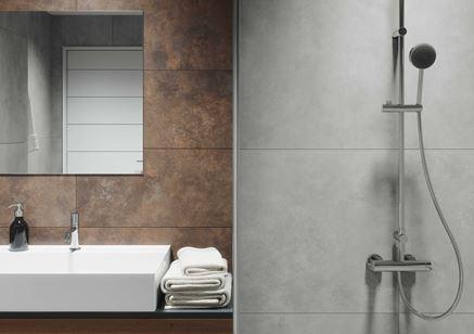 Industrialne detale w łazience