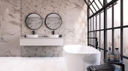 Aranżacja łazienki w kaflach Azario Catta