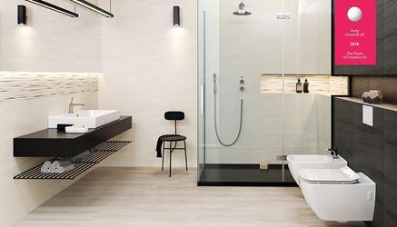 Nowoczesna łazienka w odcieniach szarości